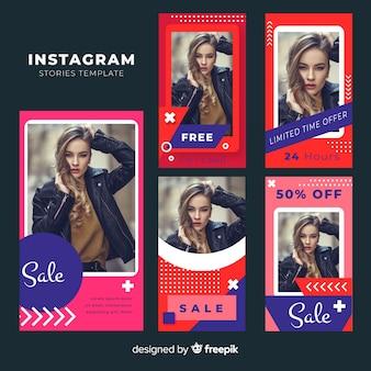 Instagram-geschichtenvorlagen mit leerem rahmen
