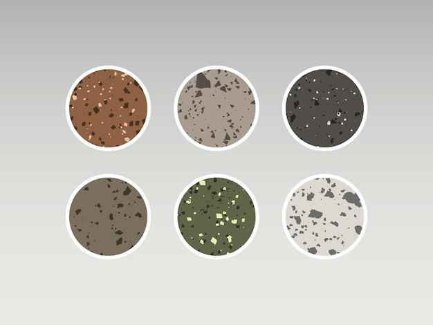 Instagram-highlight-story-cover. terrazzo-abstraktes design. premium-vektor
