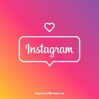 Instagram-hintergrund in den steigungsfarben