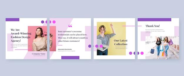 Instagram karussell vorlagen Premium Vektoren