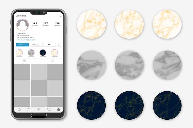 Instagram marmor geschichten highligts
