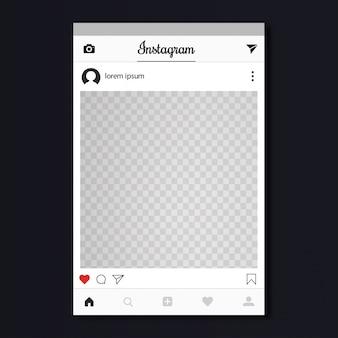 Instagram-pfostenentwurf
