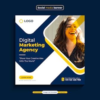 Instagram-post-banner-vorlage für die werbung für digitale marketingagenturen