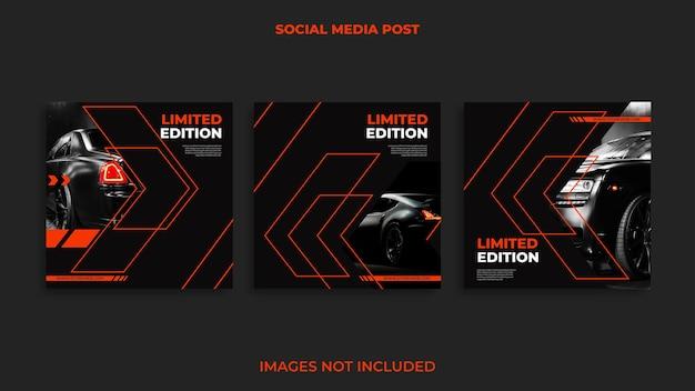 Instagram post design automobil