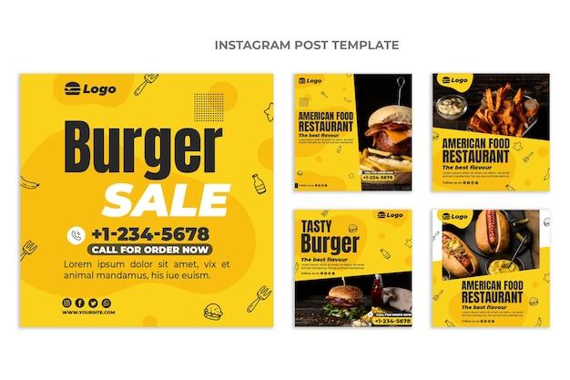 Instagram-post für flaches essen