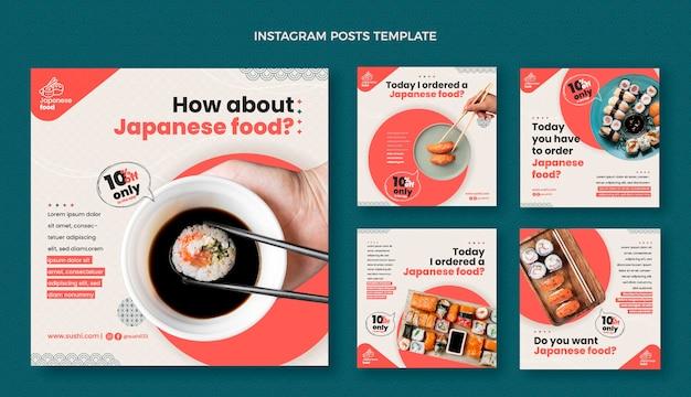 Instagram-post im flachen design