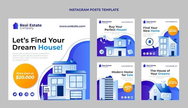 Instagram-post mit farbverlauf und gebäuden