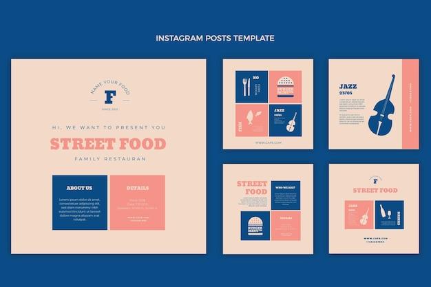 Instagram-post mit flachem streetfood