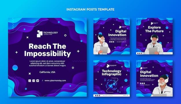 Instagram-post mit gradiententechnologie