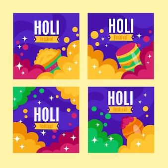 Instagram post mit holi festival konzept