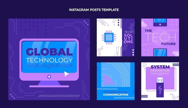 Instagram-post mit minimaler technologie