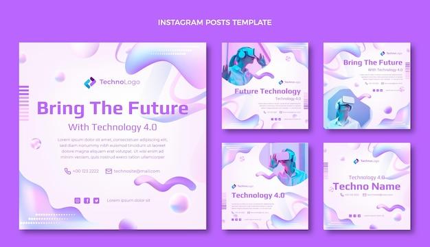 Instagram-post mit verlaufstexturtechnologie