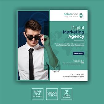 Instagram-post oder quadratische web-banner-vorlage für eine agentur für digitales marketing Premium Vektoren