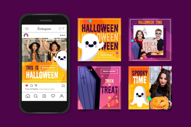 Instagram post sammlung für halloween