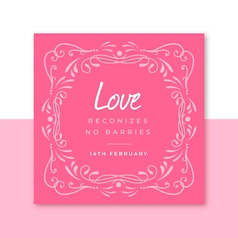 Instagram post valentinstag vorlage