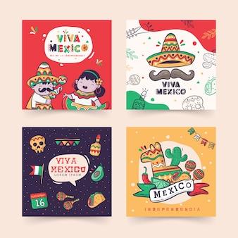 Instagram post viva mexiko, dia de la independencia oder unabhängigkeitstag