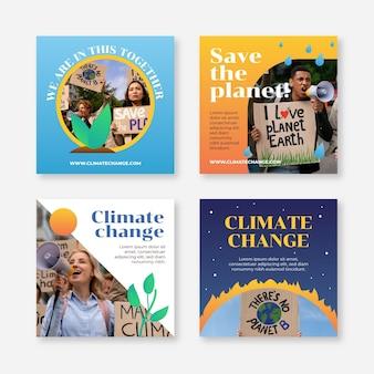 Instagram-posts zum gradienten klimawandel