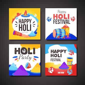 Instagram-postsammlung für das holi-festival