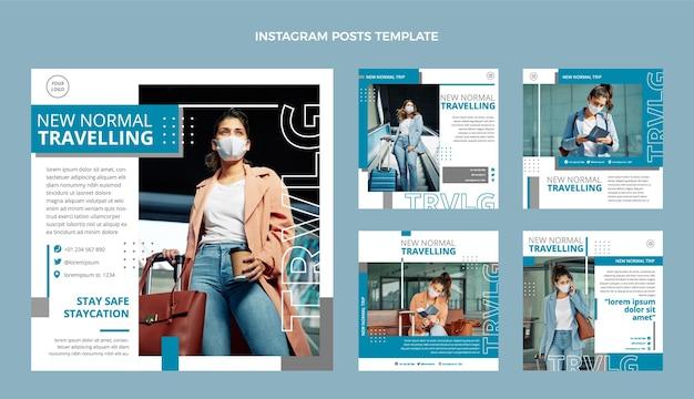 Instagram-postsammlung für flache reisen
