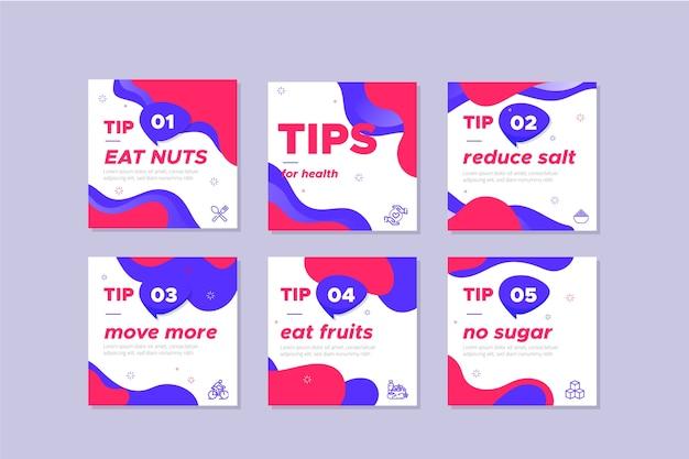 Instagram-postsammlung mit tipps
