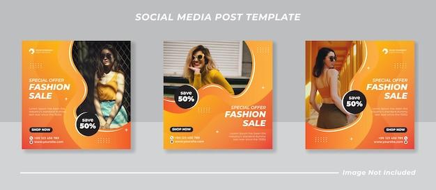 Instagram-postvorlage für den modeverkauf