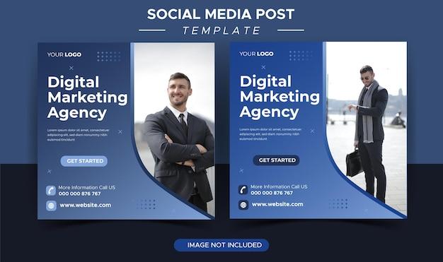 Instagram-postvorlage für eine agentur für digitales geschäftsmarketing