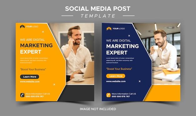 Instagram-postvorlage für kreatives business-marketing-experte