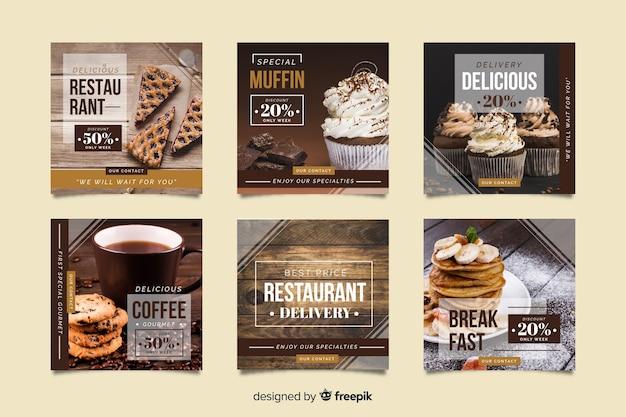 Instagram-promotion-set mit sonderangeboten