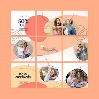 Instagram puzzle feed sammlung