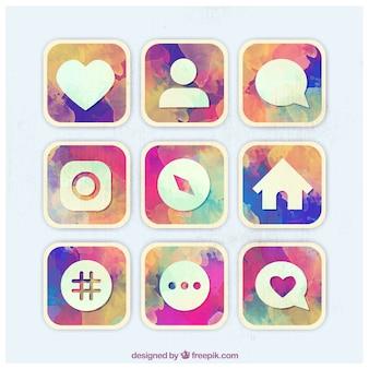 Instagram social media icons