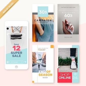Instagram stories minimales design