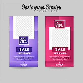 Instagram stories template sale banner