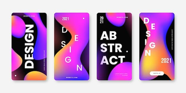 Instagram-story-set zum verkauf mit farbverlauf