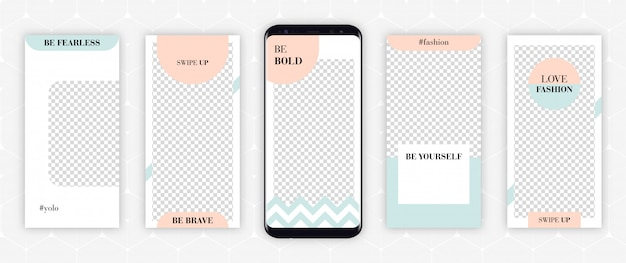 Instagram story template designs