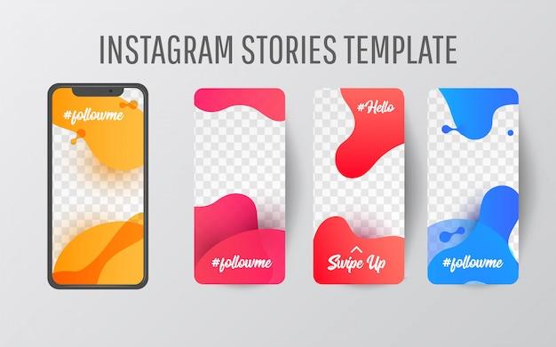 Instagram story-vorlage für social media