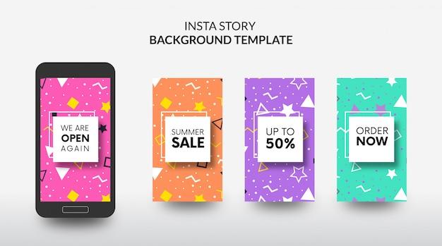 Instagram story wiedereröffnung shop sale vorlage