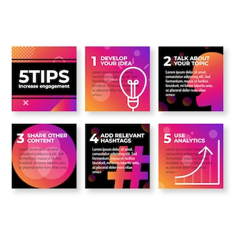 Instagram-tipps mit verlaufsfarben