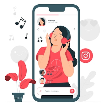 Instagram video streaming konzept illustration