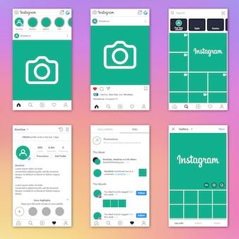 Instagram vollständige vorlage