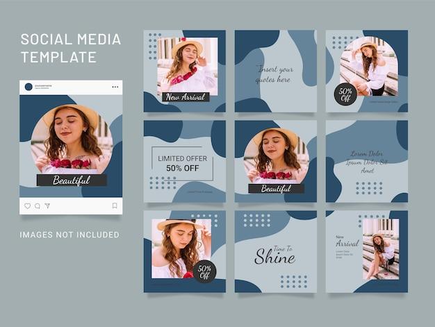 Instagram vorlage feed mode puzzle