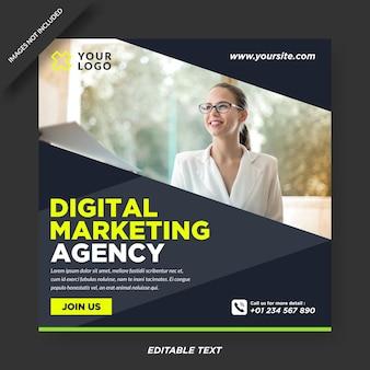 Instagram-vorlage für eine agentur für digitales marketing Premium Vektoren