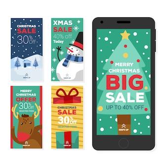 Instagram weihnachtsverkaufs-geschichtenansammlung