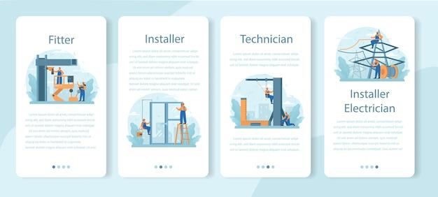 Installer-onlinedienst oder plattformsatz.