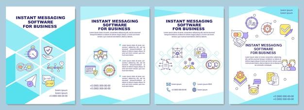 Instant message-software für business-broschüren-vorlage