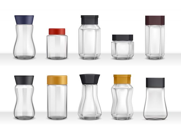 Instantkaffee realistische gläser