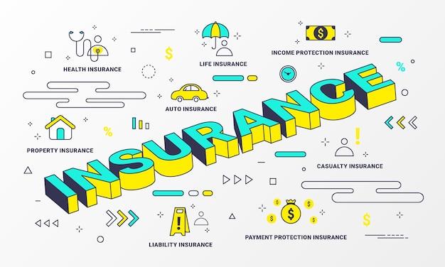 Insurance services infografik