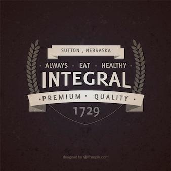 Integral essen vintage-abzeichen
