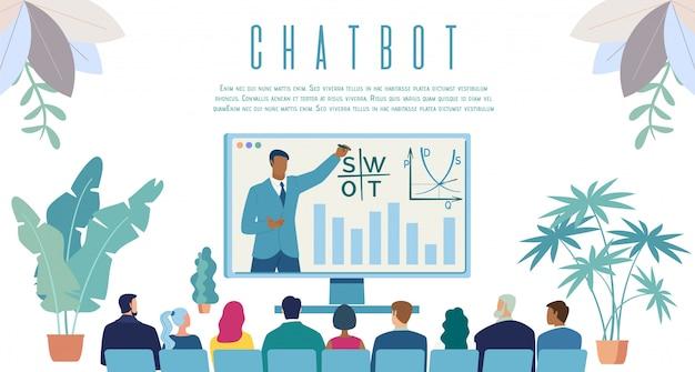 Intellektueller chatbot service web banner