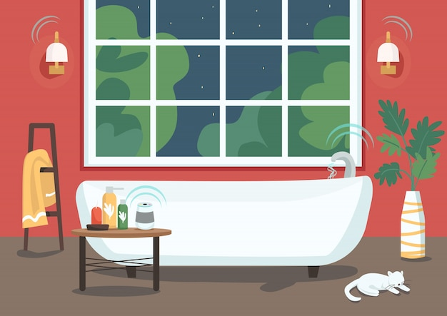 Intelligente badewanne