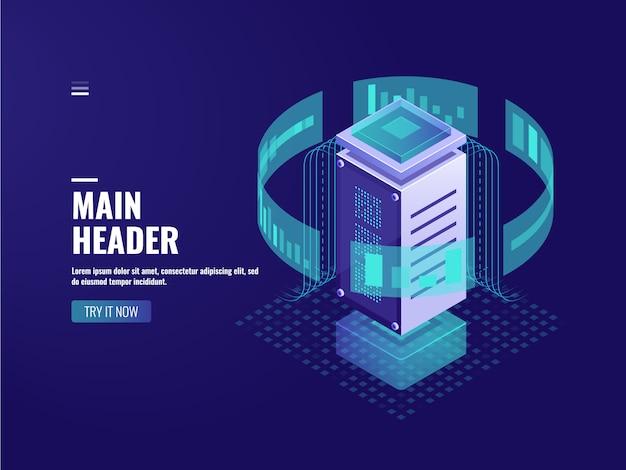 Intelligente datenverarbeitung, analyse und analyse von berechnungsinformationen, serverraum